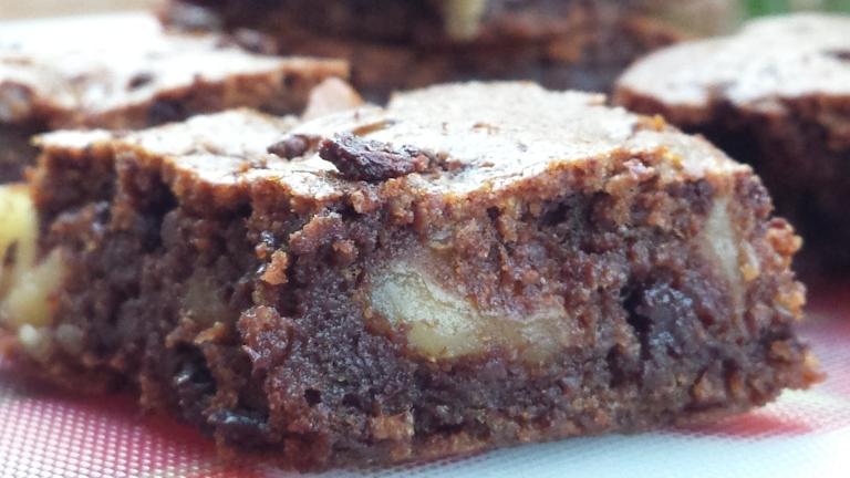 Detalle del Brownie más fácil del mundo con espelta y ágave