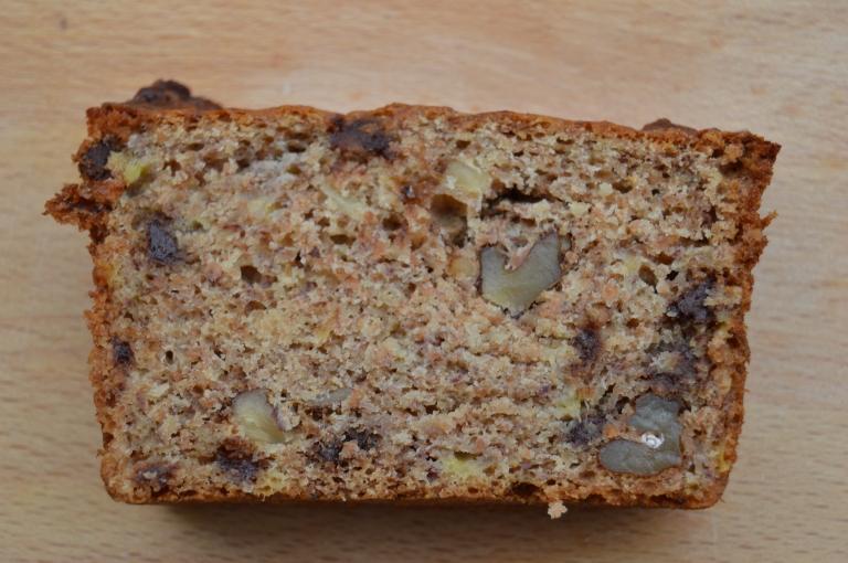 Pan de plátano con espelta y sirope de ágave - El clan de los sin trigo