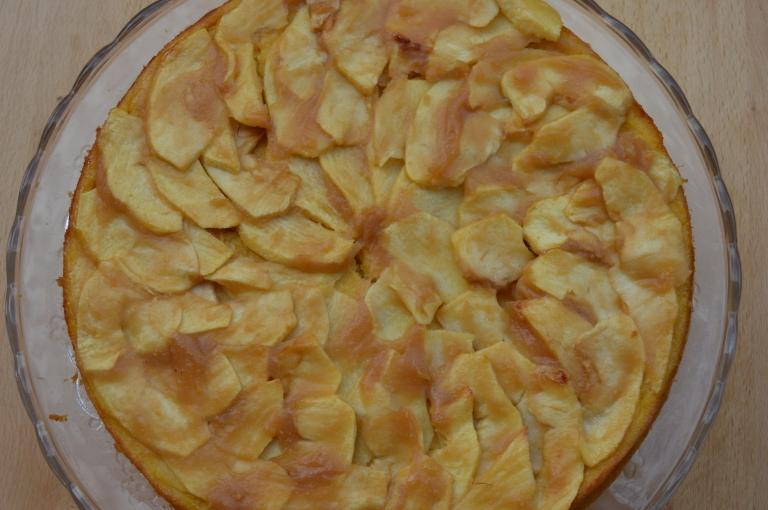 Tarta de manzana - Bizcoflan de manzana - El clan de los sin trigo