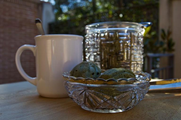 Madelaines con taza y hielera