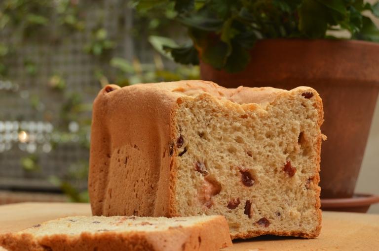 Pan de espelta con arándanos y leche de soja y arroz