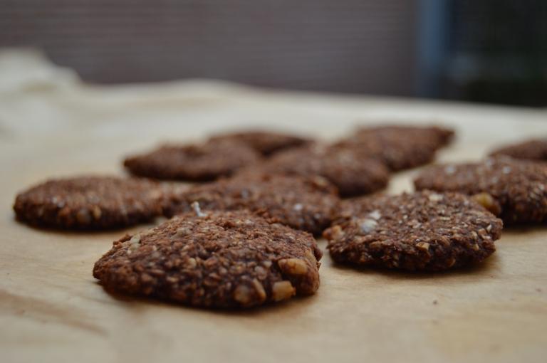 Galletas de avena, plátano y chocolate - El clan de los sin trigo