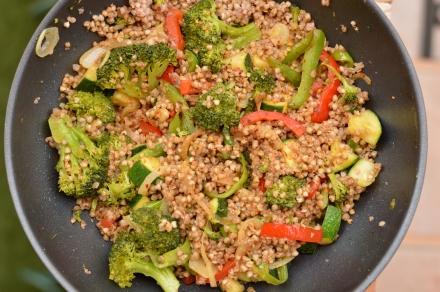Wok de trigo sarraceno y verduras - El clan de los sin trigo