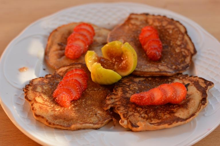 Tortitas de trigo sarraceno y sirope de ágave (sin gluten)